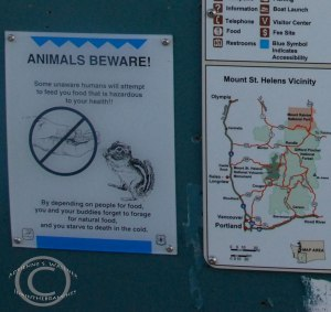 Finally!  Signage that address the animals!  :-)