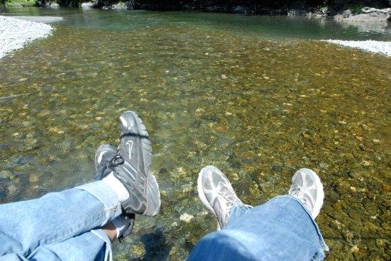 Relaxing at Redwood Creek