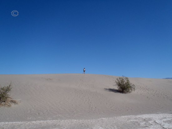 Me at the crest of a dune.