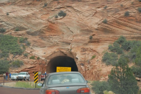 Heading into the Zion-Mount Caramel Tunnel