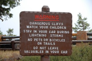 Helpful park signage.