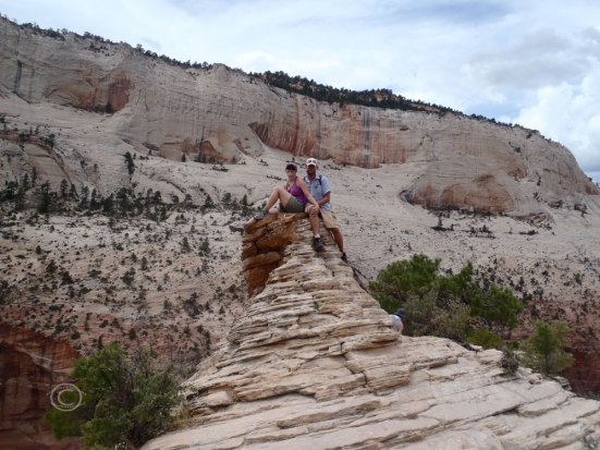 Together on Angel's Landing! (Photo by fellow hiker)
