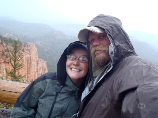 In the rain at Bryce Canyon (Photo by D. R. J.)