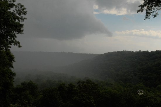 Rain over the Green River Ravine
