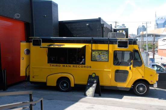 The Mobile Third Man Records parked outside.