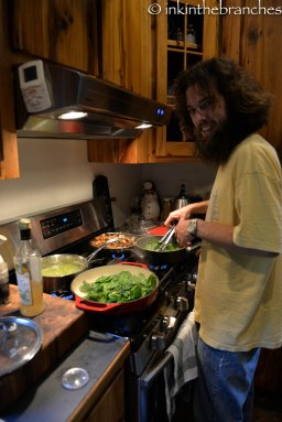 Mmmm...Luke cooking...