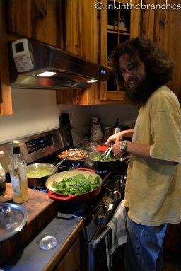 Mmmm...Luke cooking...