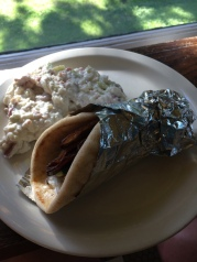 My gyro with another mountain ofbacon blue cheese potato salad. Yum!