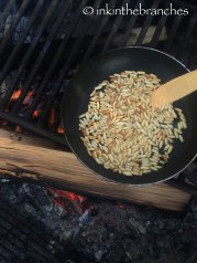 Toasted pinenuts...